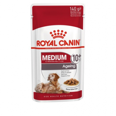 Royal Canin Медиум Эйджинг 10+ 140г соус 323085